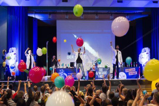 Raumfahrt Show Luftballons